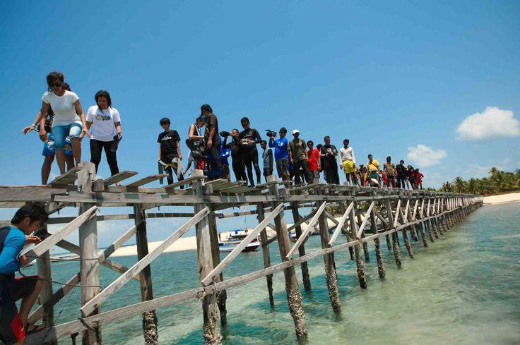 Jembatan Pulau Rajuni, Selayar, Sulawesi Selatan, Indonesia