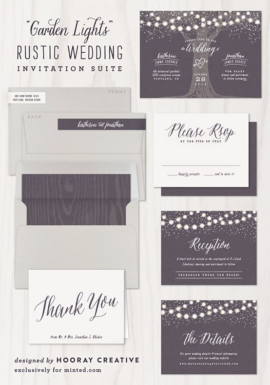 Rustic Wedding Invite by Hooray Creative #rusticwedding #invitation #minted