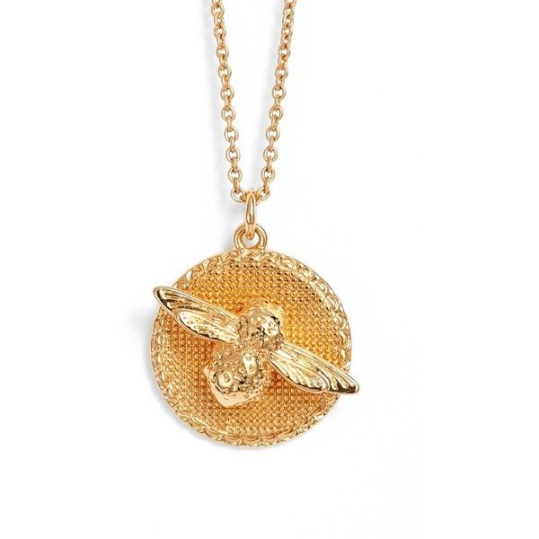Women's Olivia Burton Bee Pendant Necklace (270 BRL) ❤ liked on Polyvore featuring jewelry, necklaces, gold, gold anchor pendant, gold pendant necklace, bumble bee necklace, gold bee necklace and gold bee pendant