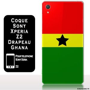 Coque Sony Xperia Z2 : Drapeau Ghana - Housse en silicone telephone sony Z2. #ghana #coque #xperia #z2