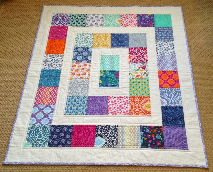 how many 5 inch squares to make a baby quilt