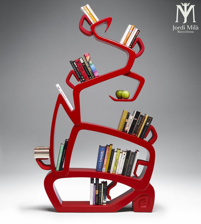 Love This Book Shelf. Contemporary Wisdom Tree Bookshelf By Jordi Mila