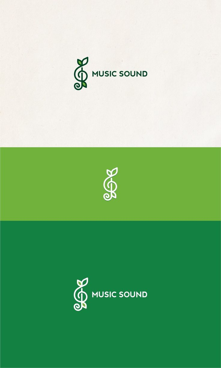 Nature-theme music logo for artistic music company