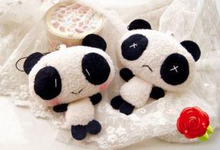 llavero panda peluche cute kawaii oso mujer niños celular
