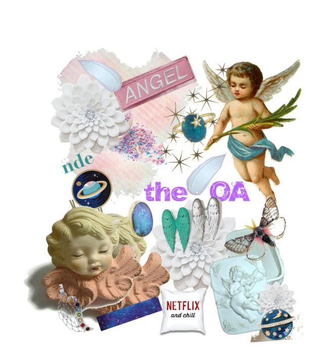 """the Original Angel..."" by popcornvintagebytann on Polyvore featuring art, vintage, angels, OA, popcornvintagebytann, nde and originalangel"