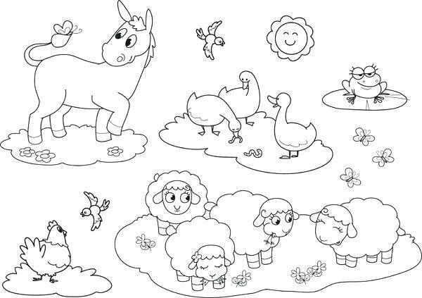 Coloriage Animaux De La Ferme Hugo Lescargot.Coloriage Animaux De La Ferme Image Coloriage Animaux De La