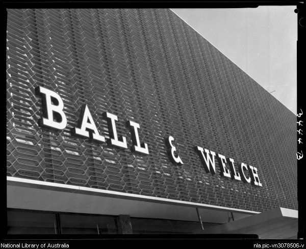 Sievers, Wolfgang, 1913-2007. Exterior of Ball and Welch building, Frankston, Victoria, 1963 [picture]