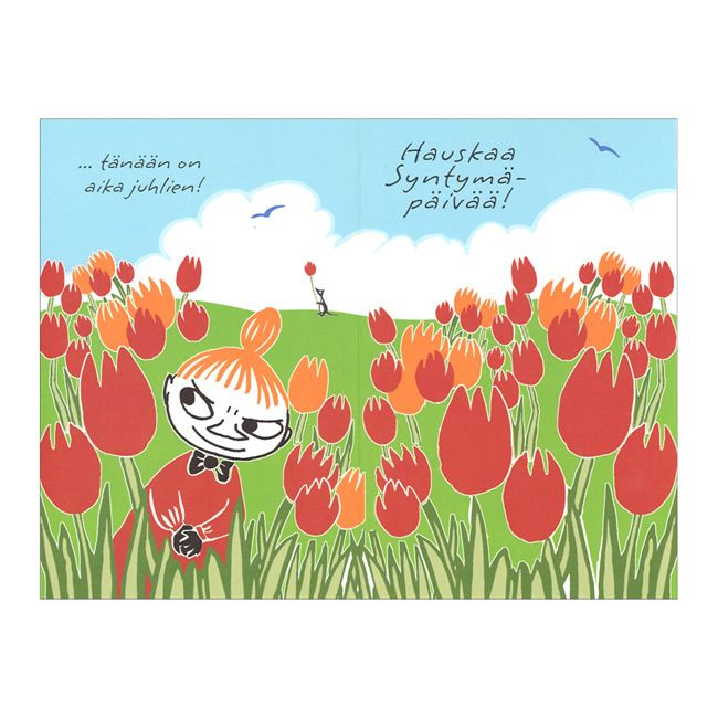 Moomin ムーミン グリーティングカード リトルミイ(チューリップ) | 北欧雑貨|北欧デザインに限定した北欧雑貨通販サイト