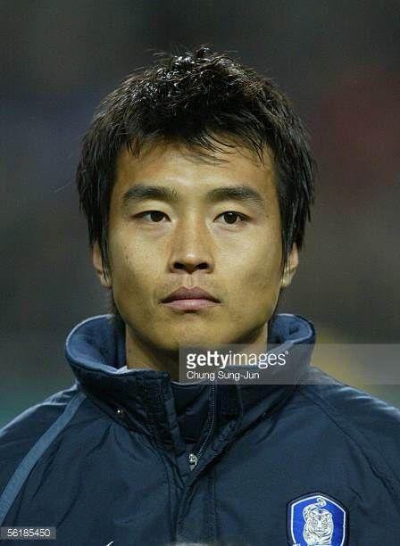 Lee DongGook of South Korea during the International friendly match between South Korea and SerbiaMontenegro at the SangAm World Cup stadium on...