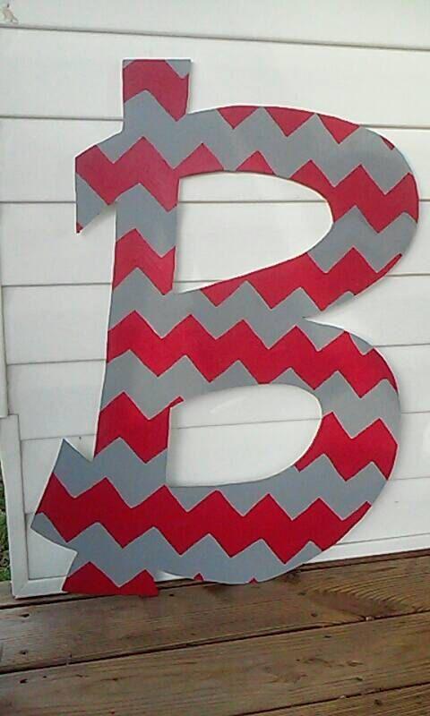 Letter Door Hanger Large Initial Door Hanger by SawdustConfetti