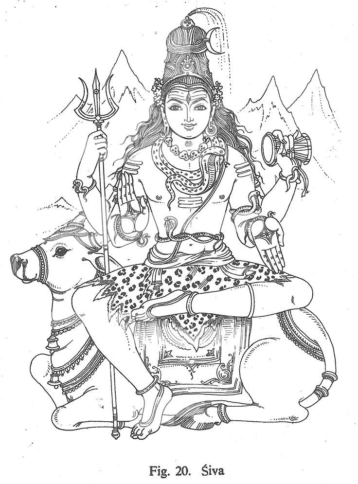 Coloring Lord Pages Shiva 2020