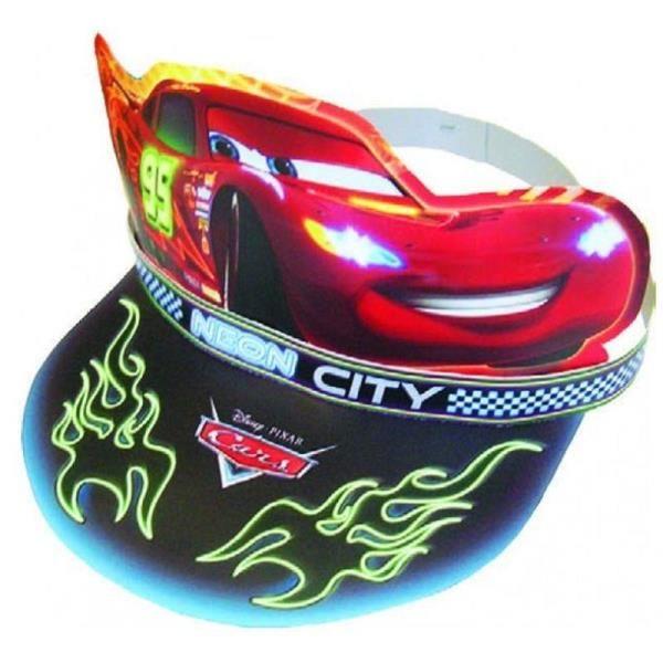 Cars Arabalar Neon City Parti Şapkası Disney Cars Figürlü Karton Şapkalar