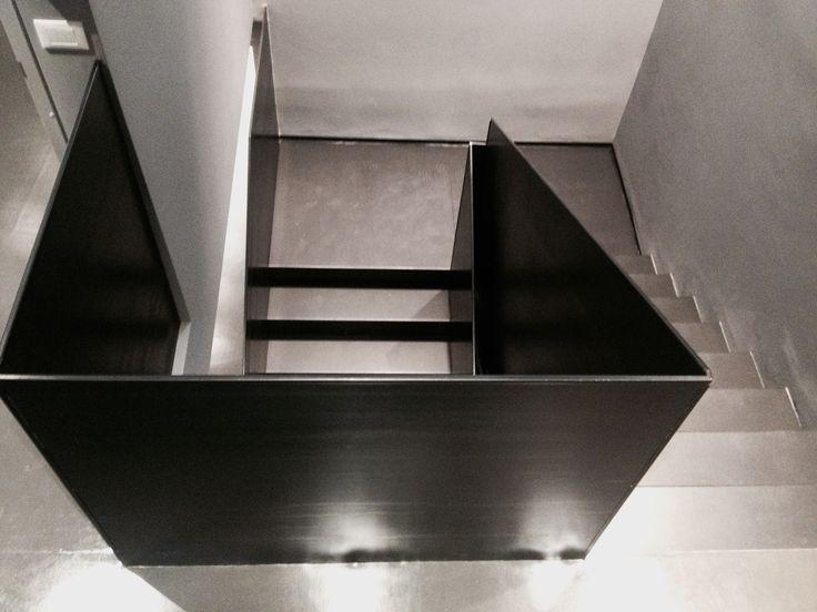 CML Milano  project b+m www.bolzonimossa.com iron staircase