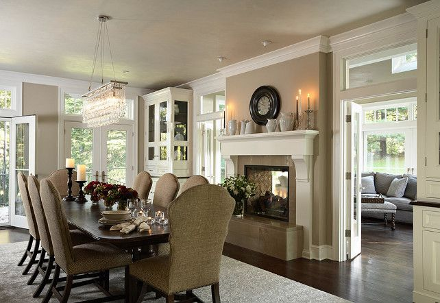 Dining Room #diningroom  Stoney Ground Paint Color on walls!