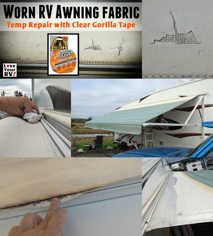 Temp Repair Patch To Our Disintegrating Rv Awning Rv Awning Fabric Rv Repair