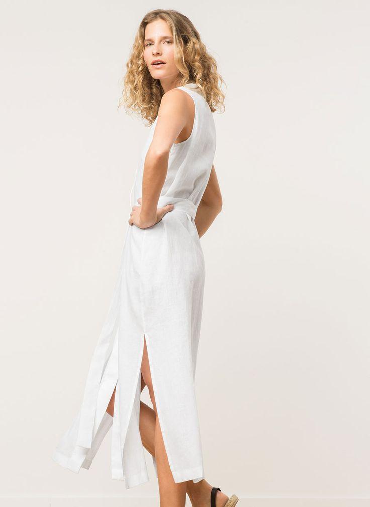 Vestido de lino - Vestidos y Faldas - Colección - Uterqüe España