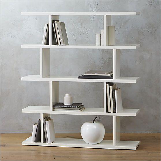 3.14 white bookcase  | CB2