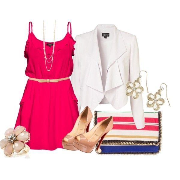 pink dress, created by bonnaroosky on Polyvore