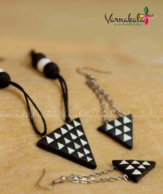 BLACK & WHITE  TRIANGLES  Geometric Collection by Varnakala