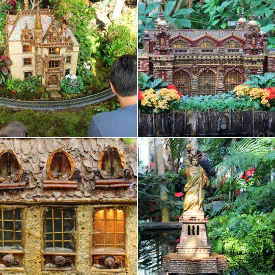 Holiday Train Show Made from Plants