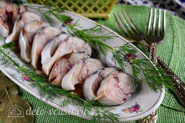 Как замариновать скумбрию в домашних уловиях #закуски #рыба #скумбрия #рецепты #деловкуса #готовимсделовкуса