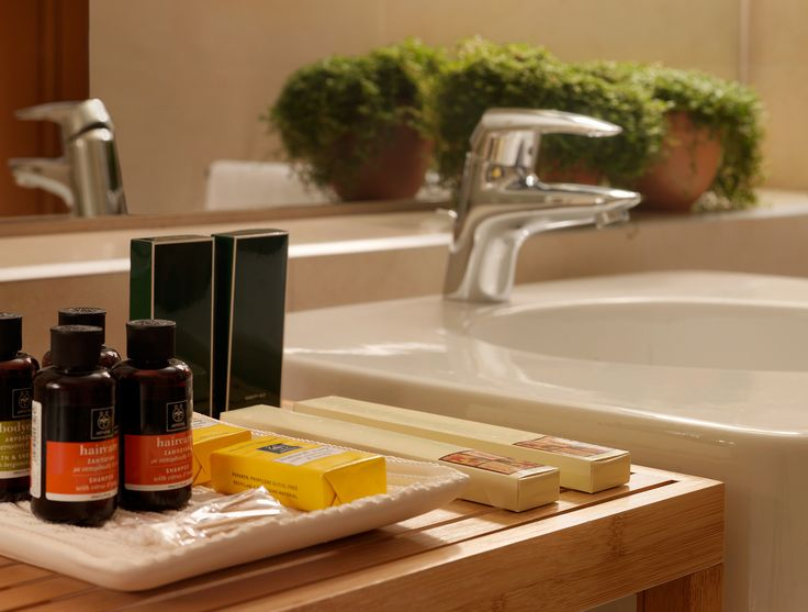 We choose the best for our Superior Rooms and Suites.  Apivita natural cosmetics!