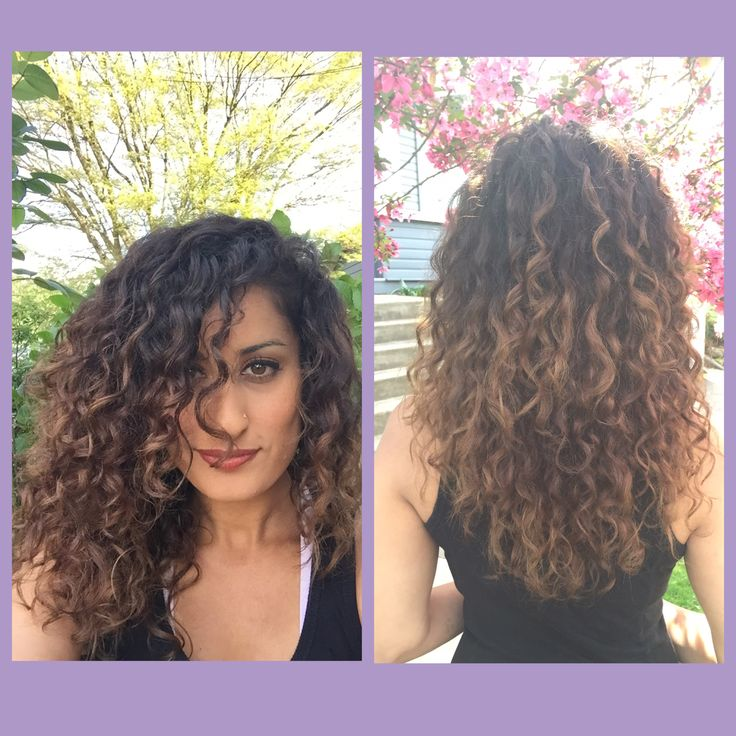 balayage hair painting naturally curly hair dark brown to