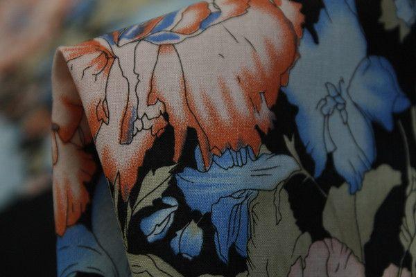 Blue Carnation Street - Cotton - Tessuti Fabrics - Online Fabric Store - Cotton, Linen, Silk, Bridal & more