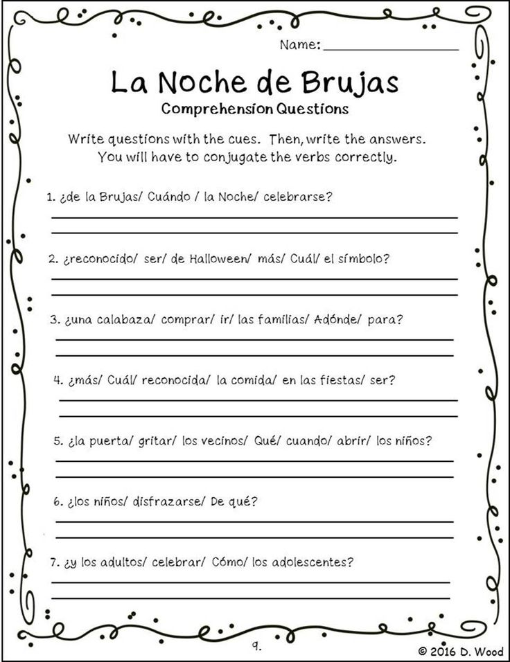 Spanish Halloween (La Noche de Brujas) Bilingual Reading