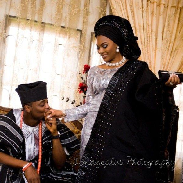 Nigerian wedding thanksgiving photos from Hadiza  Olamiju Akala in Ibadan 11. black and silver bride and groom