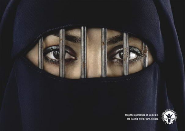 """""""stop the oppression of women in the Islamic world"""" ISHR"""