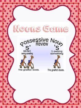 Possessive and Plural Noun Game