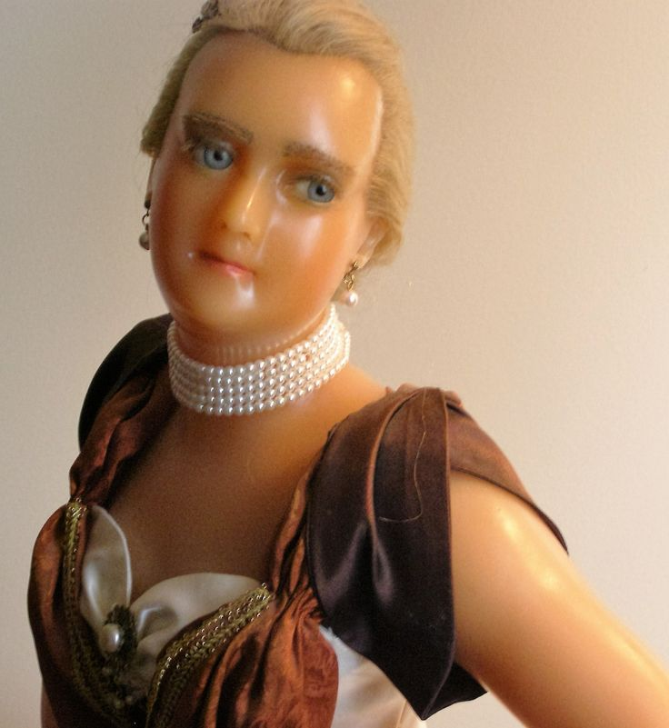 1800's Wax Figure from France of Bertha Palmer - One-of-a-Kind Museum Piece - As Seen in Antique Doll Magazine by Something2SingAbout on Etsy