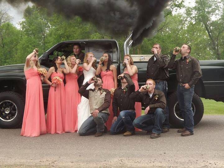 redneck wedding picture i want this