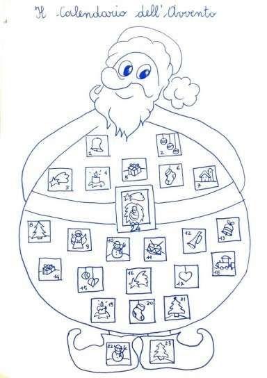 Maxi Babbo Natale Da Stampare E Colorare Calendari Dellavvento