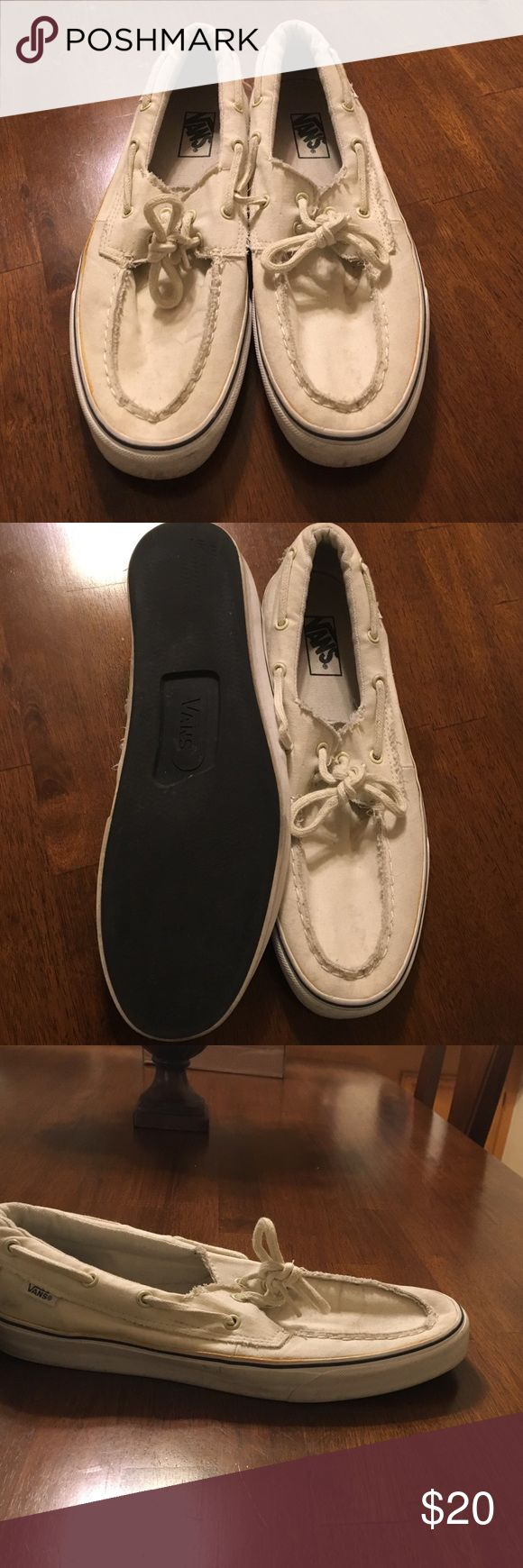 Men's white vans White vans zapato style Vans Shoes Boat Shoes