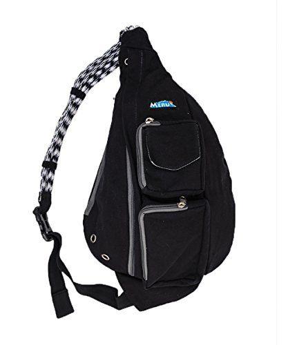 Meru Rope Bag Crossbody Sling The Ideal Edc Single Shoulder Strap Multipurpose Daypack Backpack With Ergonomic Teardrop Design Fo