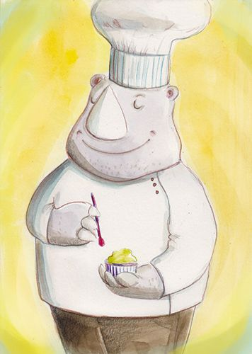 Chef Ania Simeone's illustration