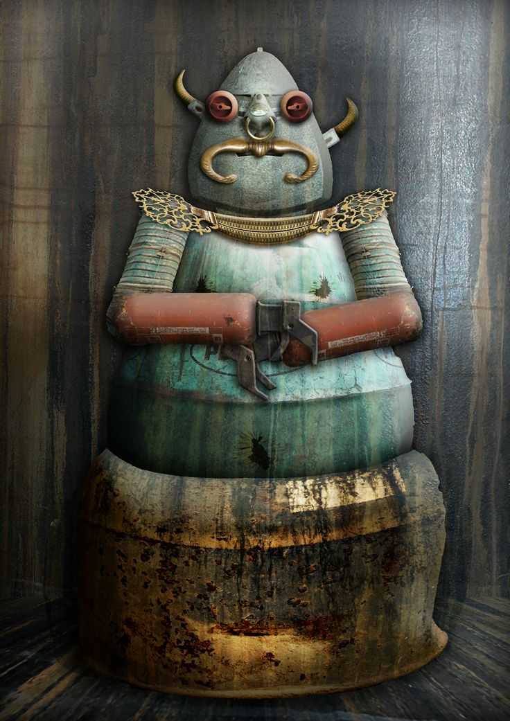 Babba the bot.  Guess what popular science fiction movie made me come up with this adorable character?