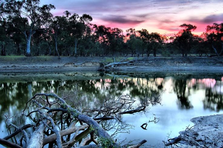 Sunrise on the Murrumbidgee River, Hay, NSW, Australia