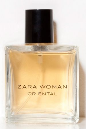 Zara Woman Oriental.  Top notes are rose and freesia; middle notes are cedar and sandalwood; base notes are vanilla and caramel.