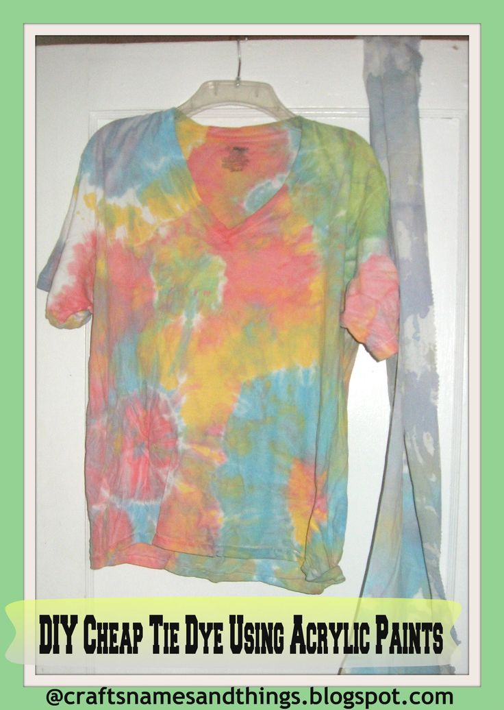 how to make cheap tie dye shirts