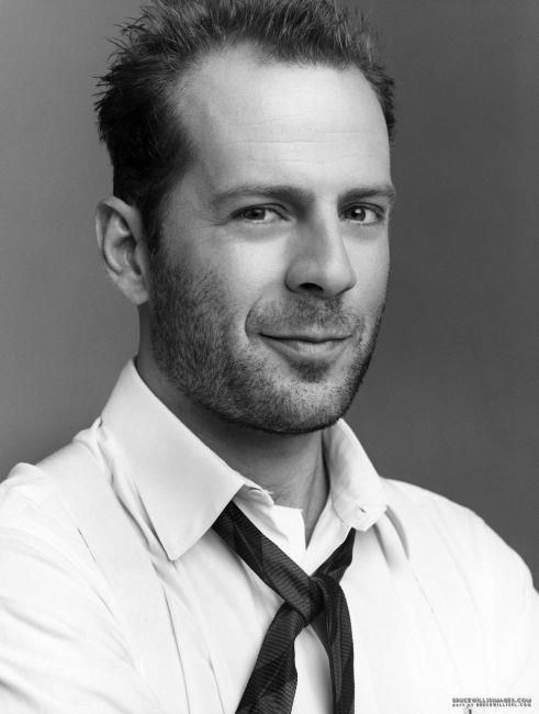 Bruce Willis, male, actor, famous, action hero, portrait, photograph, black and white, celeb, sexy, awsome