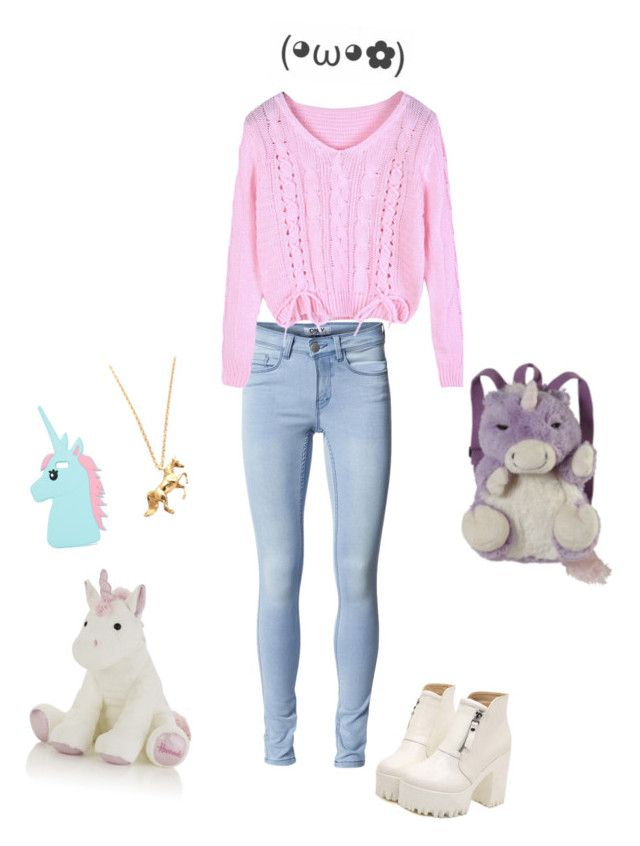"""Unicorn"" by thekawaiigirl ❤ liked on Polyvore featuring ONLY, Dr. Martens, Harrods, Pillow Pets, LeiVanKash and ASOS"