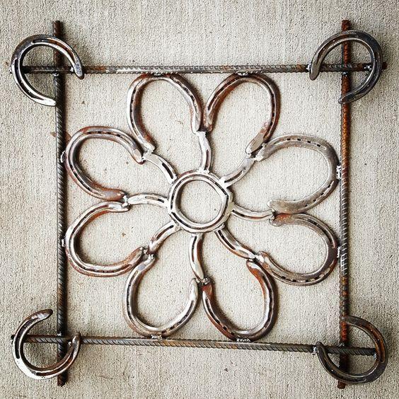 Framed Horseshoe Art, Horseshoe Decor, Rustic Decor, Handmade Decor, Country Rustic Decor, Handmade Rustic Decor, Horseshoe Wreath Decor  by KadyKustomKrafts , $134.99 USD