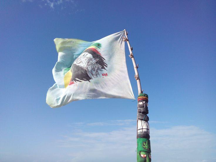 Bob Marley Flag en Parguito, Margarita.