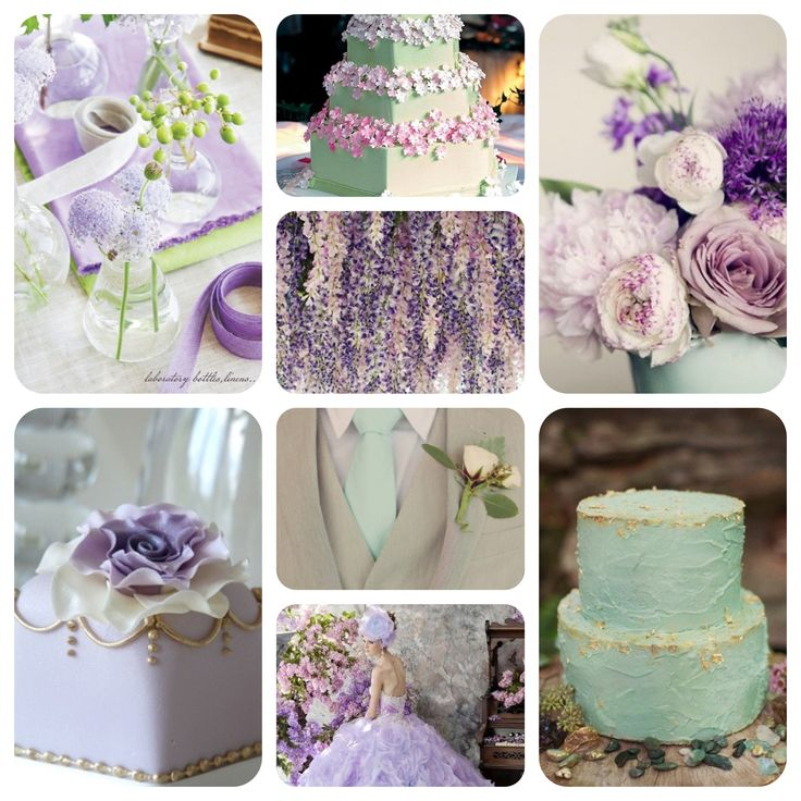Mint Lilac and Gold wedding colour scheme  Mint wedding