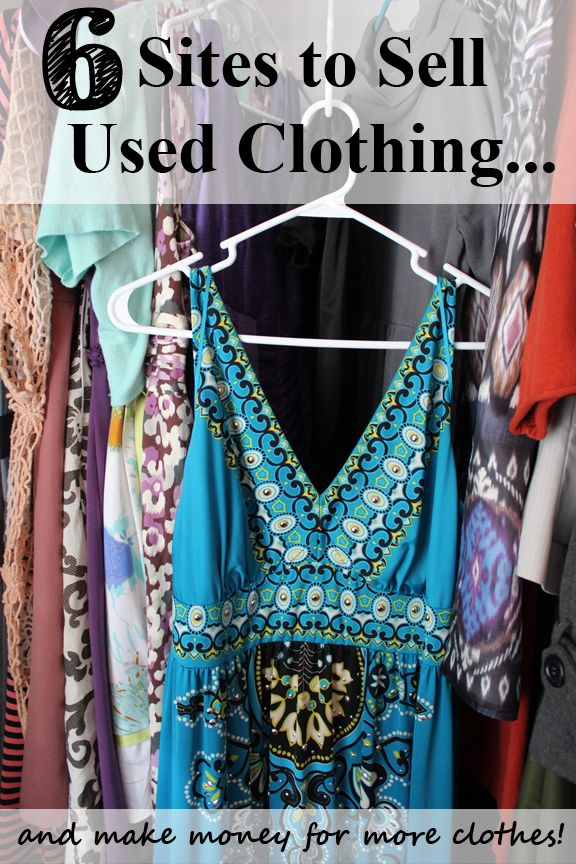 6 Sites to Sell Your Used Clothes and make money for more clothes! Some do kids clothing, trades, and even free points just for signing in each day, aka FREE clothes.