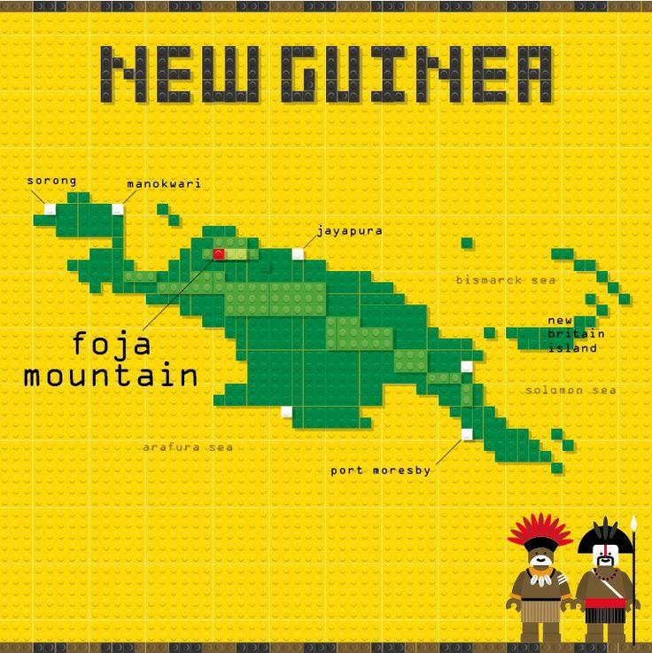 New Guinea Map, LEGO, Designed by Tawara Takuya, in Tokyo