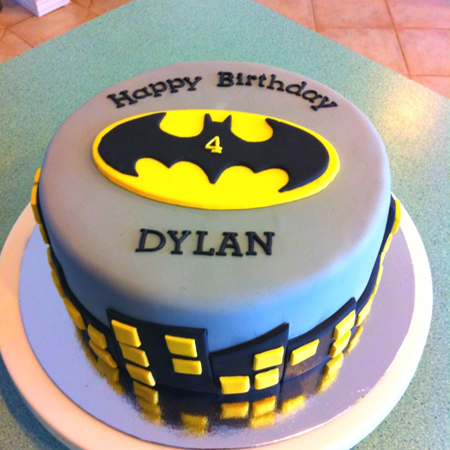 Batman Cake Happy Birthday Dylan Piece Of Cake